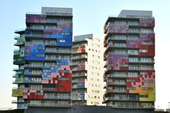 Blocks of flats in Romania. Modern , colorful blocks of flats in Constanta , Romania Royalty Free Stock Image