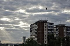 Blocks of flats in Vilnius Stock Images