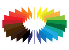 Blocks forming a color(colour) wheel/fan Stock Image