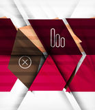 Blocks geometric abstract background Royalty Free Stock Photography