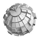 Blocks globe. Earth isolated on white background Royalty Free Stock Image