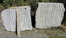 Blocks of Granite in a manufacturing industry Royalty Free Stock Photo