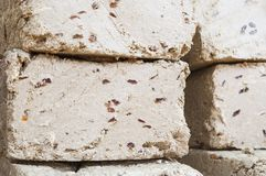 Blocks of halvah with raisins Royalty Free Stock Images