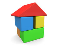 Blocks House Royalty Free Stock Photography