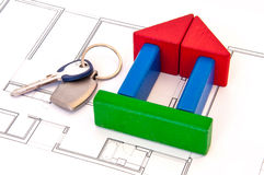 Blocks House Money Key Stock Photography