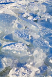 Blocks of ice in cold winter day Stock Photos