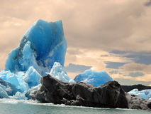 Blocks of ice floating in Lake Argentino Stock Photography