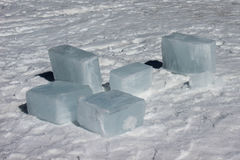 Blocks of ice Royalty Free Stock Photography