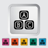 Blocks icon. Flat vector related icon for web and mobile applications. It can be used as - logo, pictogram, icon, infographic element. Vector Illustration stock illustration
