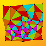 Blocks. Image blocks on a colored background. illustrations Royalty Free Stock Photos