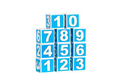 Blocks with numbers Stock Photo