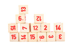 Blocks with numbers Royalty Free Stock Photography
