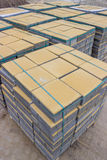 Blocks for pavement on the pallet  Stock Image