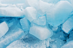 Blocks of pure ice in sunlight for background Royalty Free Stock Photo