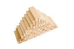Blocks  pyramid Royalty Free Stock Photos