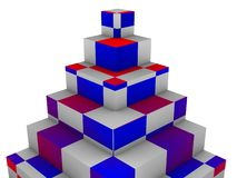 Blocks pyramid Royalty Free Stock Image