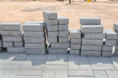 Blocks for the the road Stock Image