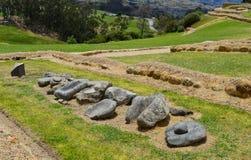 Ingapirca, archaeological complex, blocks. Blocks of rock displayed in the archaeological complex of Ingapirca, at Cañar, Equador stock photo