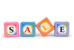 Blocks with Sale word isolated Stock Images