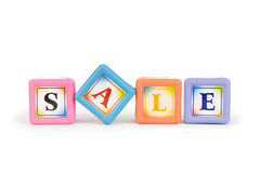 Blocks with Sale word isolated Stock Photography