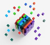 Blocks scattered Showing Action And Solutions Royalty Free Stock Image