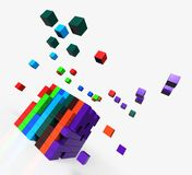 Blocks scattered Shows Action And Solutions Stock Photos