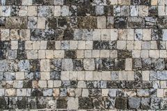 Coral bricks of Fort Jaffna - Sri Lanka. Blocks of solid coral were used to construct this wall of the Jaffna Fort in Sri Lanka Stock Photo