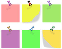 Blocks in some colors to write shortnesss messages Stock Photography
