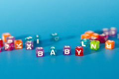 Blocks that Spell BABY Royalty Free Stock Photo
