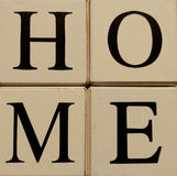 Blocks spelling Home Stock Images