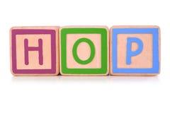 Blocks Spelling HOP Royalty Free Stock Image