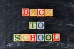 Blocks Spelling Out Back To School Stock Photos