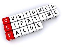 Customer Lifetime Value. Blocks spelling out customer lifetime value Royalty Free Stock Photography