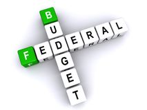 Federal Budget. Blocks spelling out 'federal budget', isolated on white Stock Photography