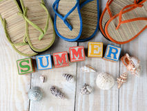 Blocks Spelling Out Summer Stock Images