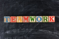Blocks Spelling Out Teamwork stock images