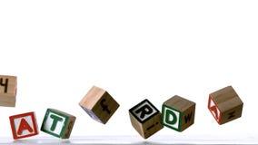 Blocks spelling saturday falling over Stock Photo