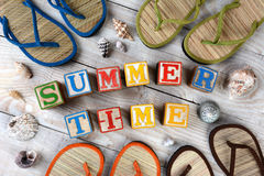 Blocks Spelling Summer Time stock photography
