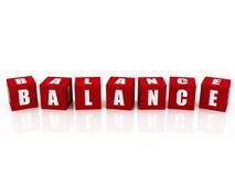 Blocks spelling word balance Royalty Free Stock Image