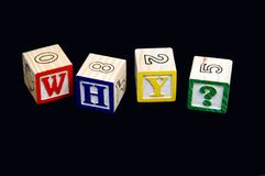 Blocks spelling word why? Royalty Free Stock Images