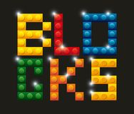 Blocks to build design. Illustration eps10 graphic Royalty Free Stock Images