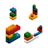 Blocks to build design. Illustration eps10 graphic Royalty Free Stock Photos