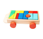 Blocks on a trolley Royalty Free Stock Photo