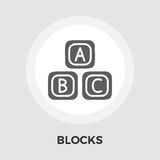 Blocks Vector Flat Icon. Blocks icon vector. Flat icon isolated on the white background. Editable EPS file. Vector illustration stock illustration
