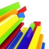 Blocks on white Stock Image
