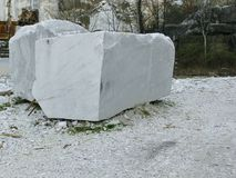 Blocks of white marble Stock Image
