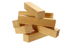 Blocks of Wood Royalty Free Stock Photos