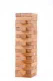 Blocks wood game on white background. Royalty Free Stock Images