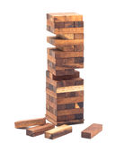Blocks of wood isolated on white background Royalty Free Stock Photography