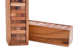 Blocks of wood isolated on white background Stock Images